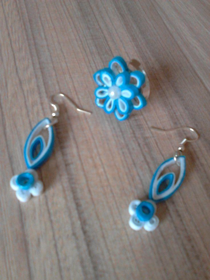 set albastru quilling 2016