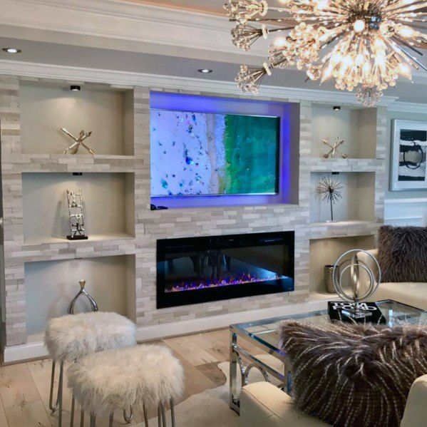Top 40 Best Recessed Wall Niche Ideas Interior Nook Designs Feature Wall Living Room Living Room Remodel Living Room Entertainment