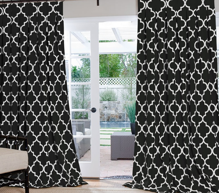 Black And White Toile Shower Curtain Bold Black and White Curtains