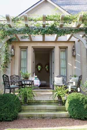 Pergola. I can imagine sitting with my friend Denise, having a cup of coffee or tea. Love and cherish our friendship!