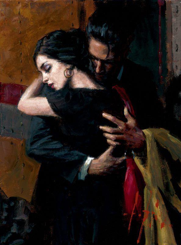 the embrace by fabian perez