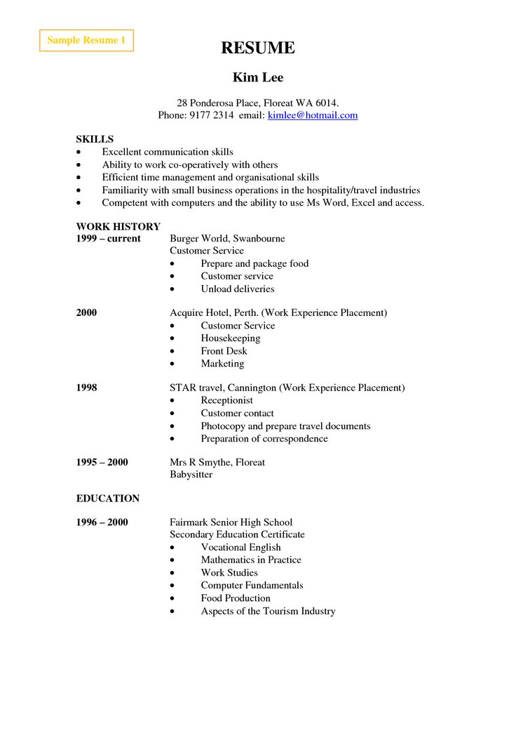 Best 25+ Resume format examples ideas on Pinterest Resume - sample resume high school