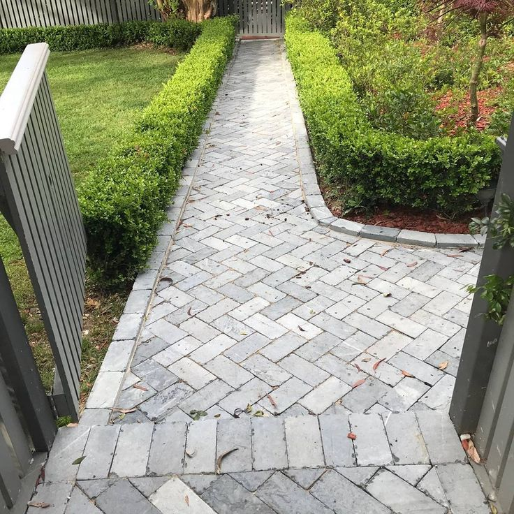Amber Tiles Kellyville (@amberkellyville). Tumbled Bluestone footpath in Beecroft NSW. Driveway safe and stunning. #tumbledbluestone #limestone #naturalstone #herringbone #ambertiles #ambertileskellyville
