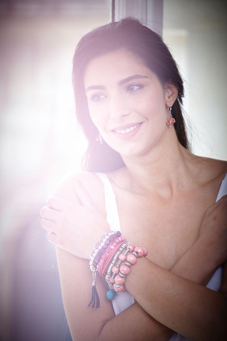 #LDCbijoux composition de bracelets empilables #chamallow pour une manchette toute douce  http://www.demoiselles-cherbourg.com/boutique/?bijoux=bracelet