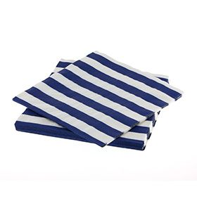 Trucks and Trikes Birthday; pack of 20 blue stripe napkins, comes with the Standard and Deluxe Packs