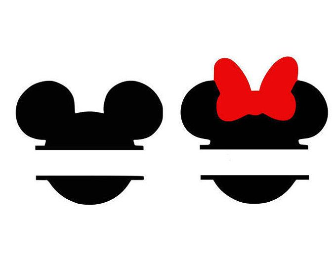 Mickey Monogram Svg Minnie Monogram Disney Svg Cartoon