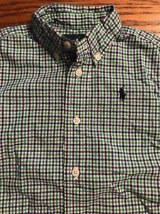 Polo, Ralph Lauren Baby Toddler Boys Size 18 Months Plaid Long Sleeve Shirt EUC  | eBay