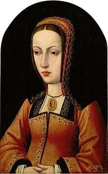 Juana I de Castilla[Juana la Loca] 1479-1555.  Reina  de Castilla, de Navarra, de Aragón,de Sicilia y Valencia.  Esposa de Felipe I.