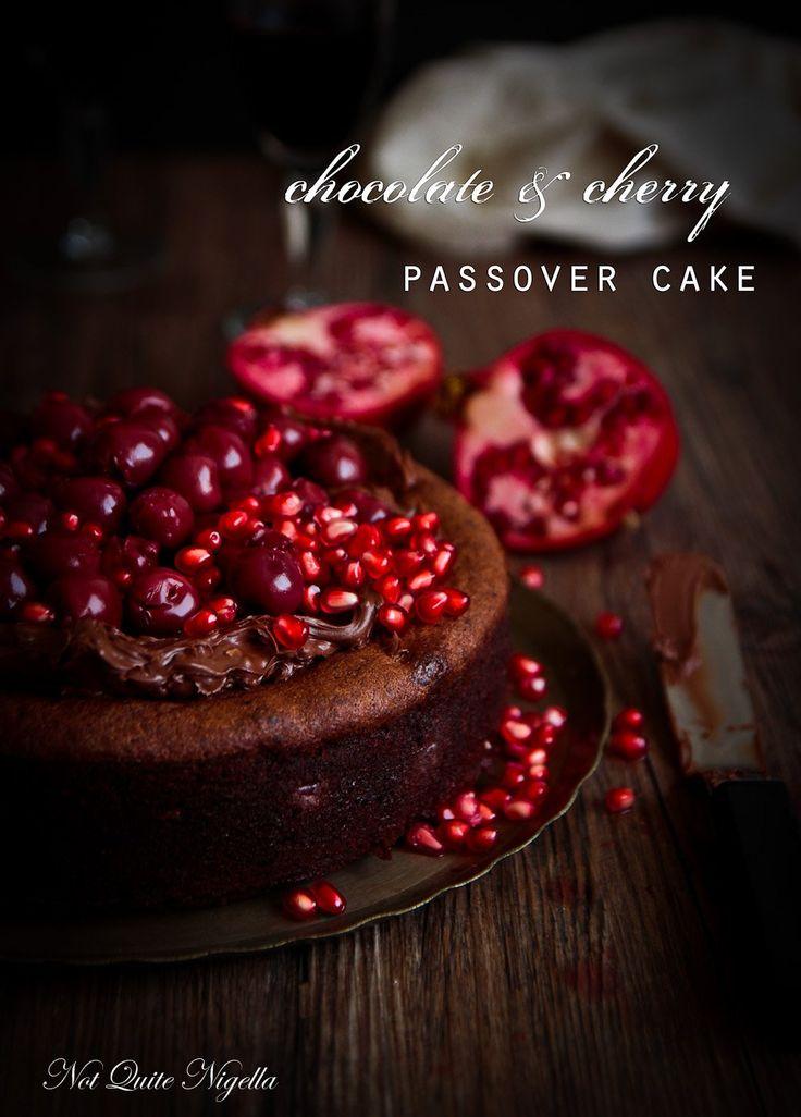 Flourless Chocolate Cherry Cake for Passover (Gluten Free)