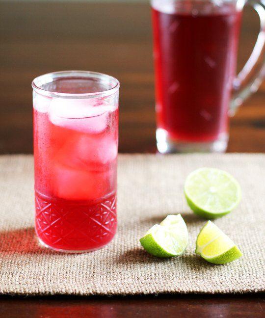 Drink Recipe:  Cold Brewed Jamaica - Hibiscus Iced Tea