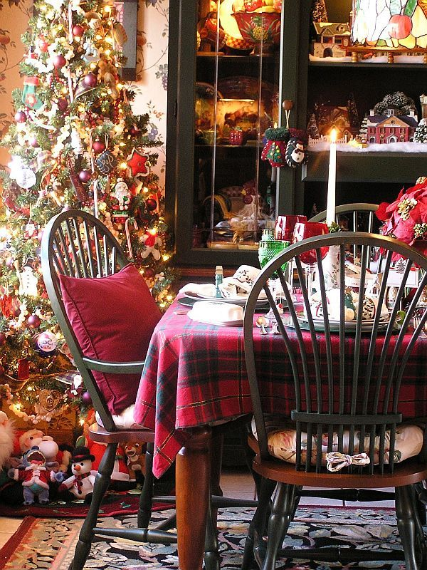 Christmas Kitchen Decoration Ideas Curtains Tablecloth Windows DecorationsChristmas Dining RoomsChristmas