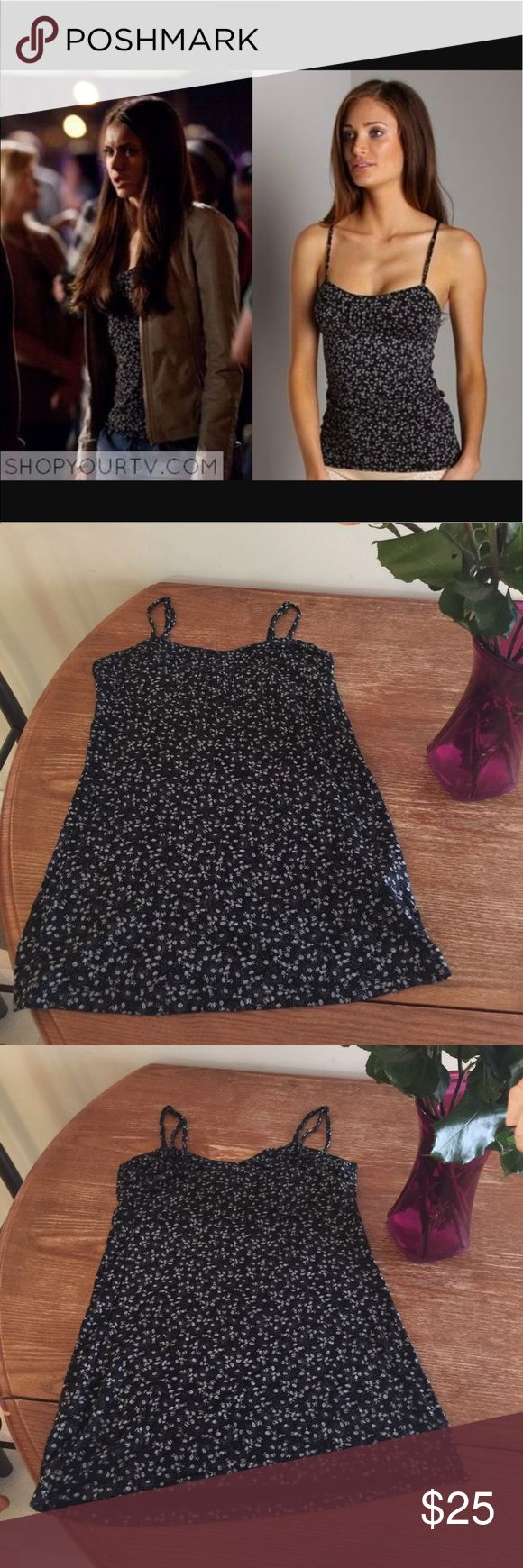Elena Gilbert Free People Ditsy Floral Cami M Re Posh. Great condition. As seen on Elena Gilbert from The Vampire Diaries. Free People Tops Tank Tops