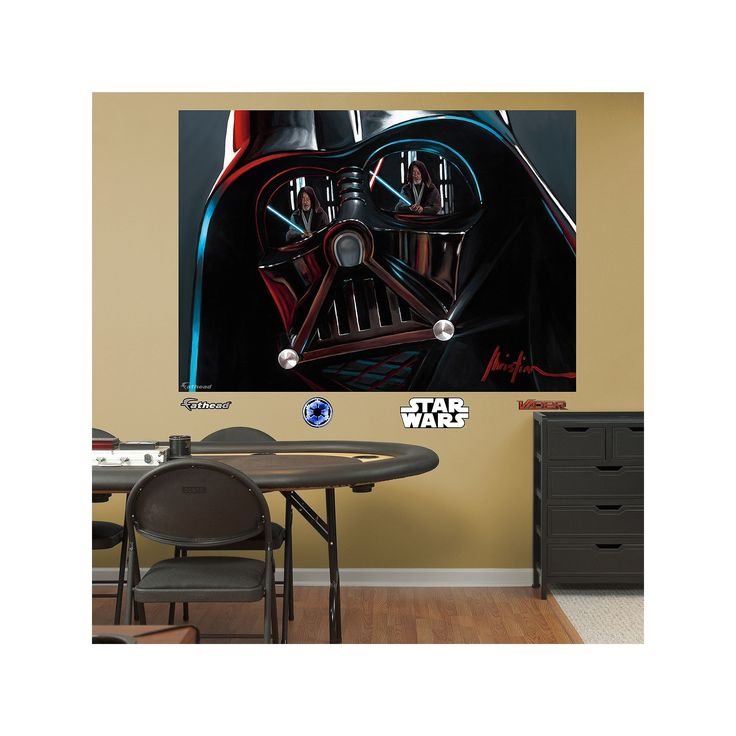 Star Wars Darth Vader Helmet Mural Wall Decal by Fathead, Multicolor