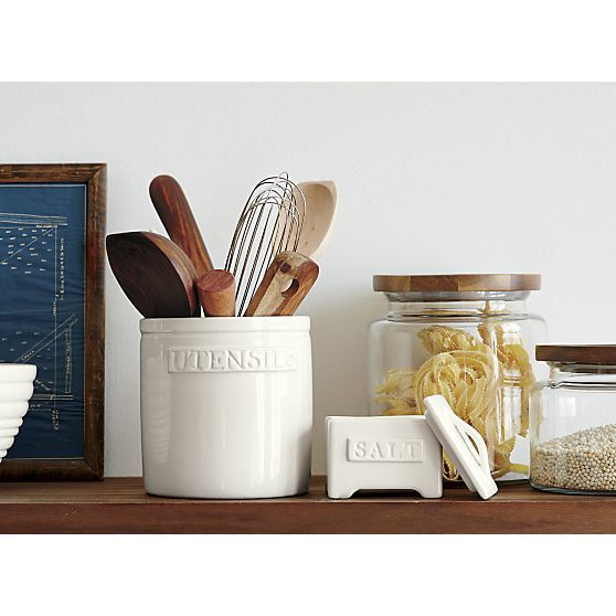 Homestead Utensil Crock in Food Containers, Storage | Crate and Barrel