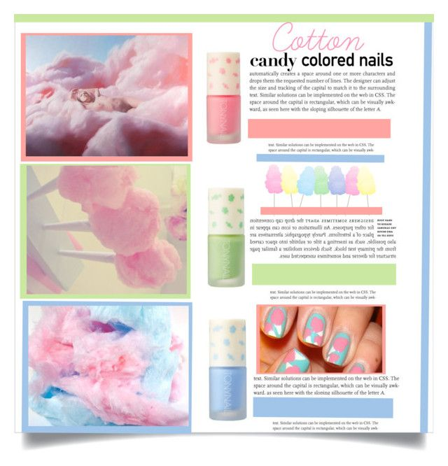 """cotton candy nails"" by cynthia6 ❤ liked on Polyvore featuring beauty and Cotton Candy"