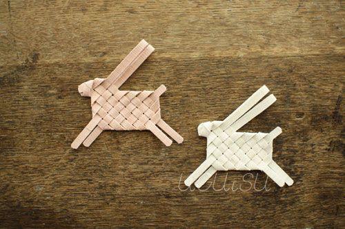 woven linen rabbits