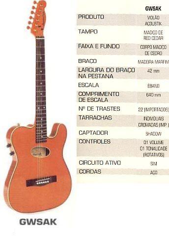 Violões Aço - Catálogo Geral de Produtos - 1992