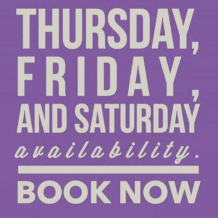 Select times for this week still available for hair