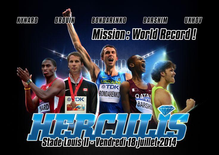Ce 18 Juillet Herculis Monaco – Saut en Hauteur Hommes : Un record, 5 prétendants. Après l'ouverture de l'IAAF Diamond League 2014 à Doha, auréolée d'une meilleure performance de l'année au Saut en Hauteur masculin, Herculis Monaco est fier de vous annoncer que les principaux acteurs de cette discipline seront au rendez-vous le 18 Juillet 2014 au Stade Louis II....  VIDEO : http://youtu.be/065KVY1mQiU Informations et billetterie sur www.herculis.com