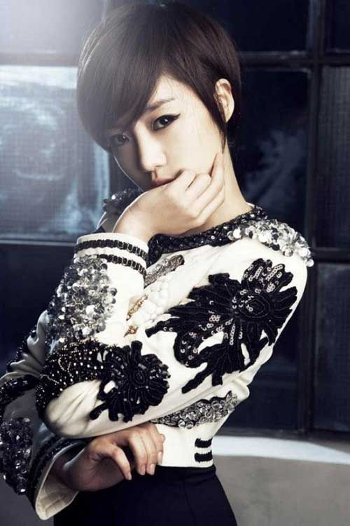 11.Cute Asian Pixie Cut