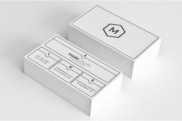 Simple Minimal Business Card 50 by Arslan on Creative Market