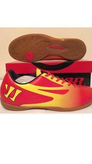 BRAND NEW Warrior Red & Yellow Indoor Rubber Sole Astro Trainers size 8.5
