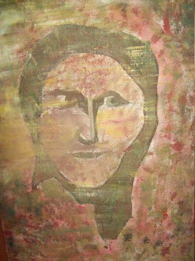 Danuta Krajewska / Portrait of mother / akrylic painting on canvas / 50 x 70cm
