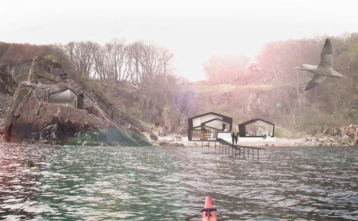 Ablahamn - recreation centre in the Swedish national park 'Kullaberg'. See the whole Bachelor project at http://kimdeniseohrstrom.tumblr.com