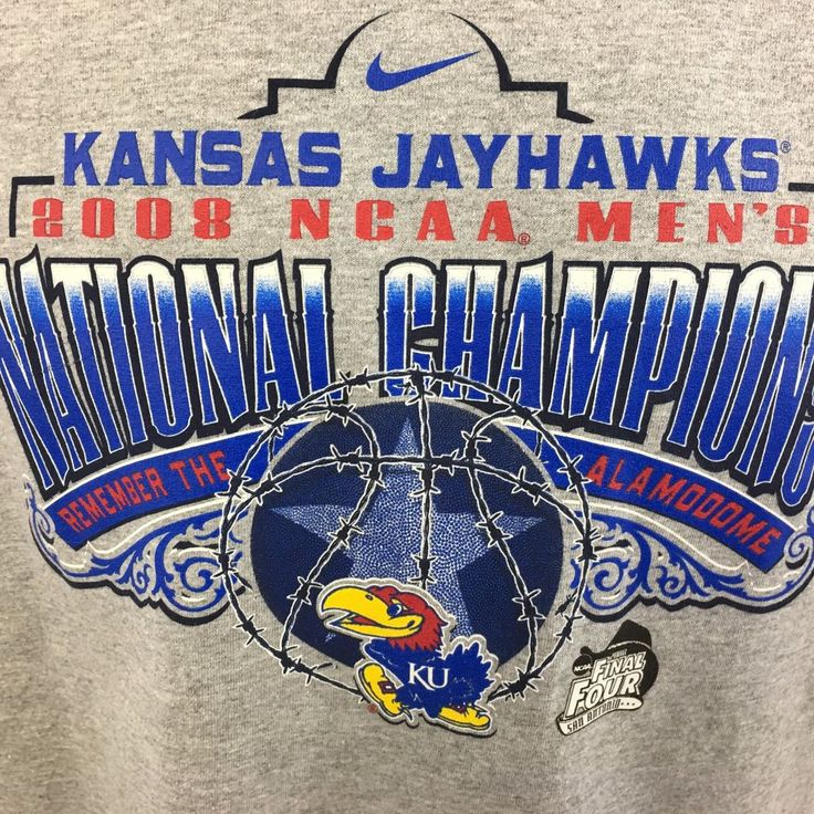 Kansas Jayhawks 2008 NCAA Mens National Champions KU Final Four TShirt XL NWT #Nike #KansasJayhawks