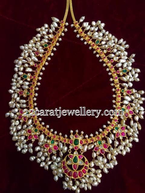 Attractive Short Gottapusalu Necklaces - Jewellery Designs