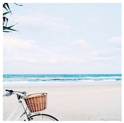 Dreaming of living by the ocean and riding my bike on the beach.
