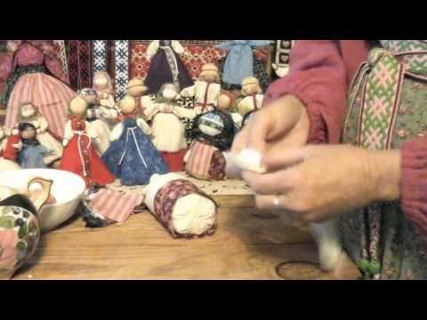 Кукла крупеничка мотанка сделать своими руками - YouTube