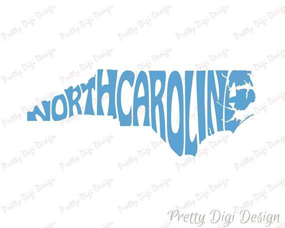 Digital North Carolina Word Art, North Carolina jpg, png, pdf, eps, svg, North Carolina logo design, North Carolina word in map shape