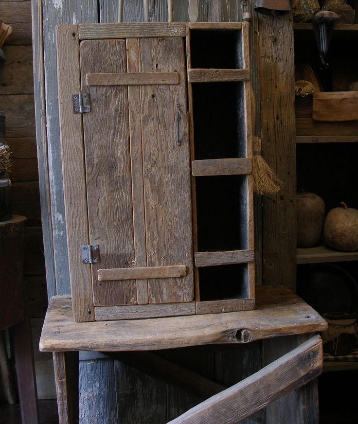 Primitive old wood cupboard at Sweet Liberty Homestead