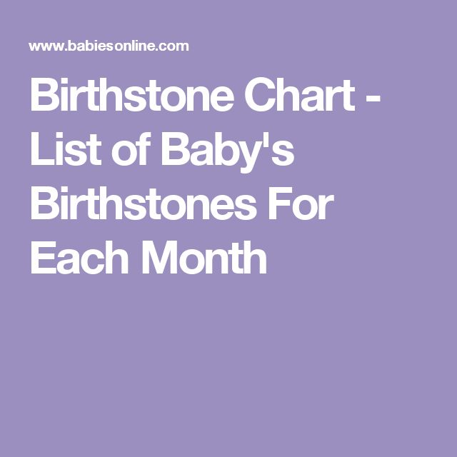 Birthstone Chart - List of Baby's Birthstones For Each Month