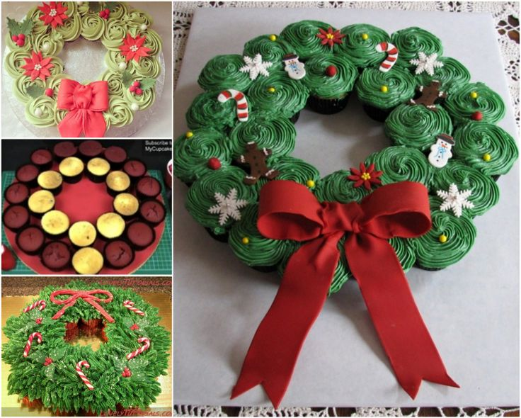 This Christmas Cupcake Wreath is so easy to make and it looks great.  You will love this idea!