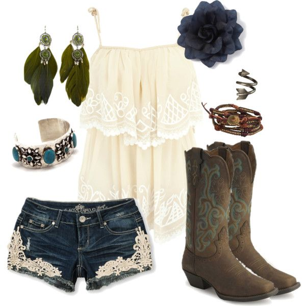 """""""Little Bit of Everything"""" ~~country fashion~~.....they even have my boots my honey bought me!!"""