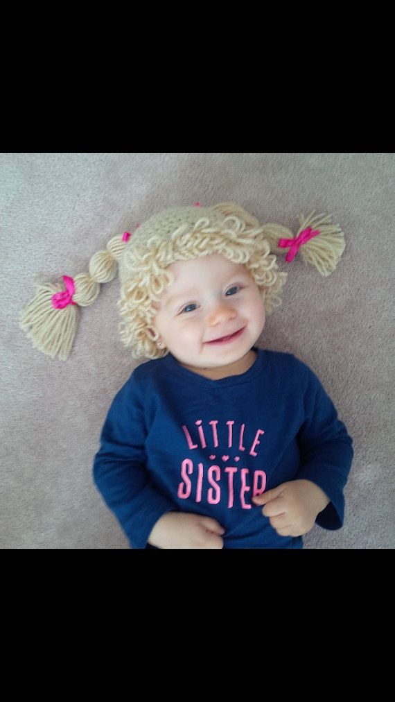 Cabbage Patch Hat Wig Free Crochet Patterns