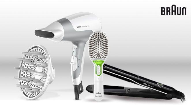 Dann machen Sie mit und gewinnen Sie eines von insgesamt vier Paketen – bestehend aus der Braun Satin Hair 7 IONTEC Haarbürste, dem Satin Hair 5 Haartrockner mit Diffusor und dem Satin Hair SensoCare Styler. Teilnahmeschluss ist am 22. Oktober 2015. Viel Erfolg!