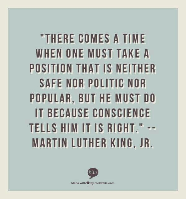 There comes a time.... | MLK