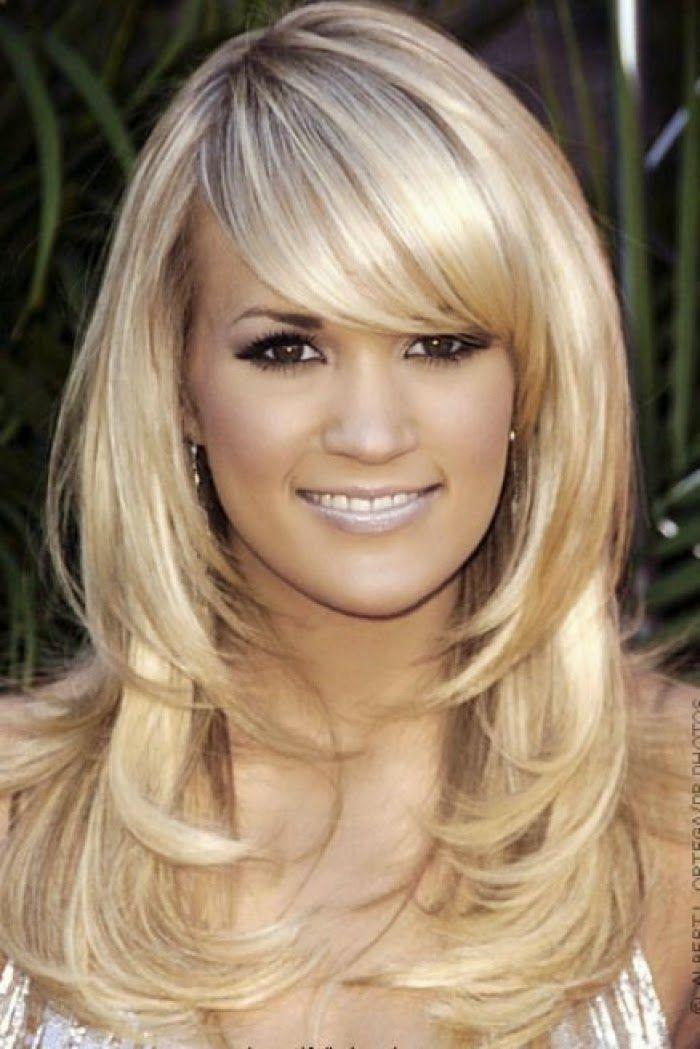 Peinados para mujeres con caras largas y cabello grueso  - Peinados Para Caras Largas Mujeres