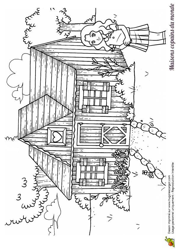 Dessin De Maison En Bois  Conceptions De La Maison  BizokoCom