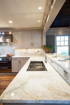 taj mahal quartzite counter top  Woodacres - traditional - kitchen - dc metro - Aidan Design