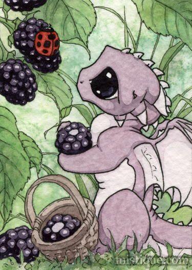 Blackberries by *MistiqueStudio on deviantART