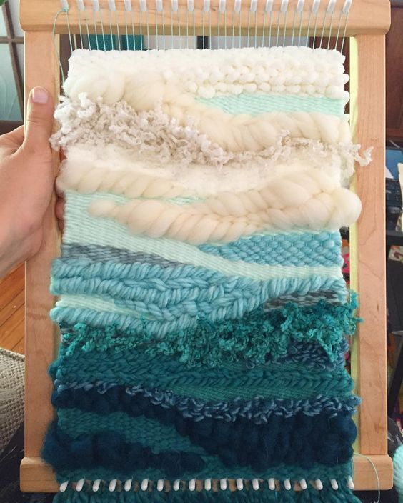 ready to take off the loom! #weaverfever #weaving #makemestudio #lazyday #teal…