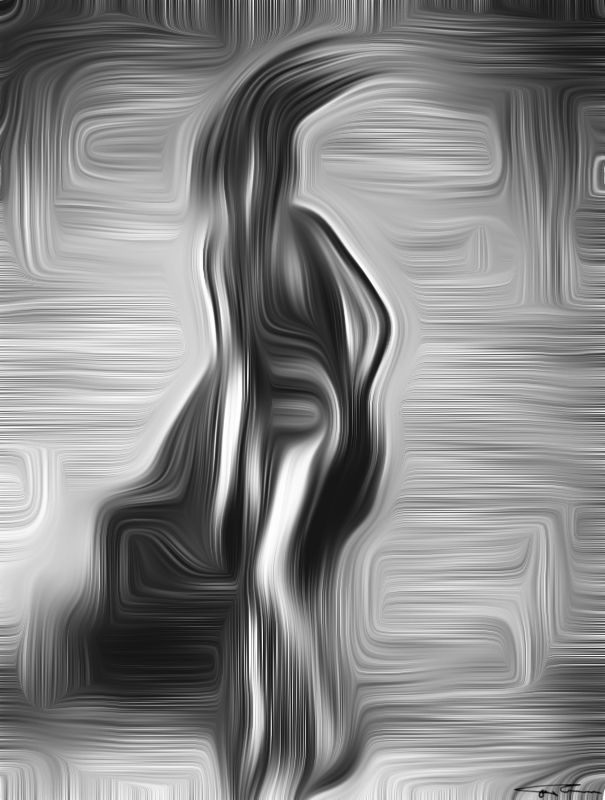Name:  My sexy alien (BW) Author: Erik Teodoru ID number:  Year: 2017 Software Tool: Gimp 2.8.20   Model: --- Original Source Image: Internet photo Project: Feelings, Motions and Emotions