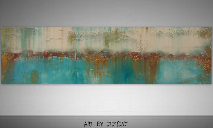 Art Abstract Painting Original 72 Landscape Textured by Itisfine