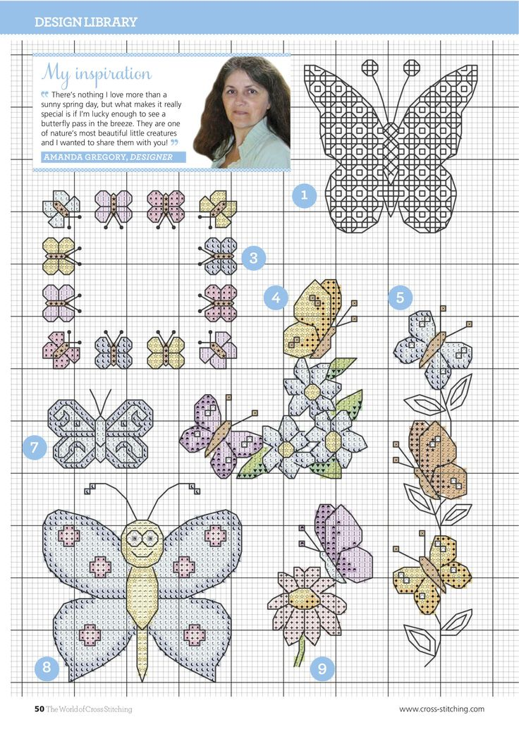 Beautiful Butterflies From The World of Cross Stitching N°240 April 2016 4 of 9