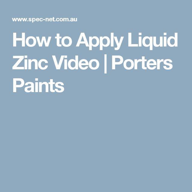 How to Apply Liquid Zinc Video | Porters Paints