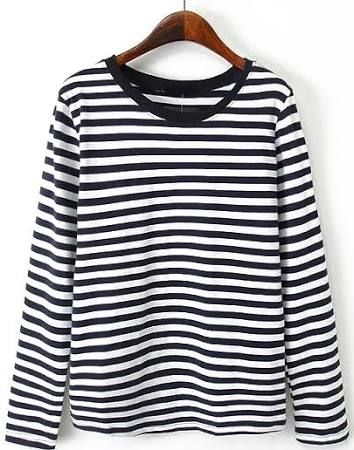 black and white striped t shirt - Google Search